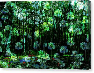 Irises Falling From A Southern Sky  Canvas Print