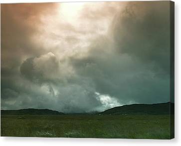 Canvas Print featuring the photograph Irish Atmospherics. by Terence Davis