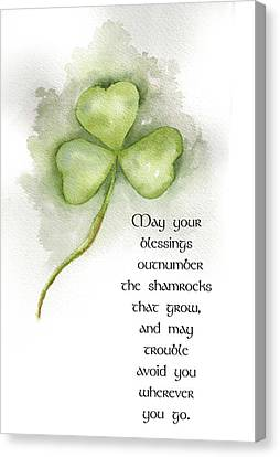 Irish Blessing Canvas Print by Nancy Ingersoll