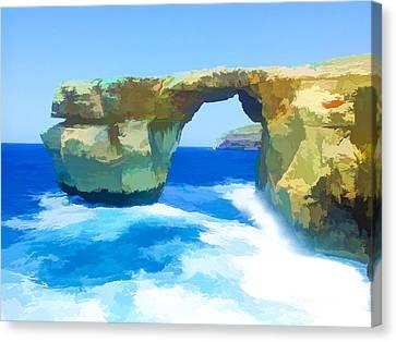 Irish Cliffs Of Kilkee Canvas Print by Lanjee Chee