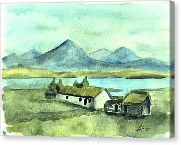 Irish Cottage Canvas Print by Alan Hogan