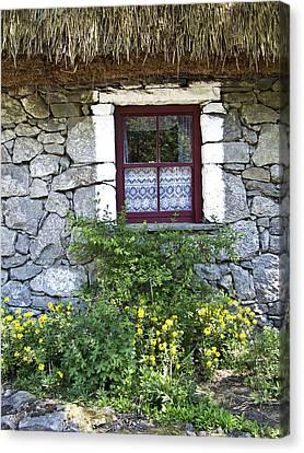 Irish Cottage Window County Clare Ireland Canvas Print by Teresa Mucha