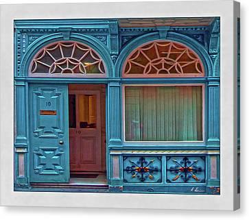 Canvas Print featuring the digital art Irish Door by Hanny Heim