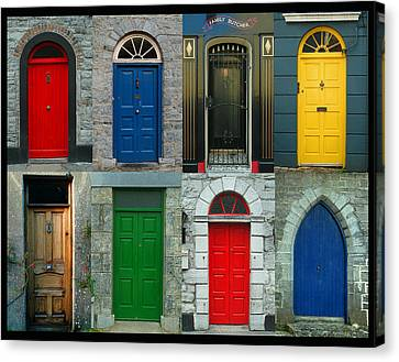 Irish Doors Canvas Print by Joe Bonita