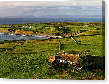 Irish Green Field On West Coast  Canvas Print by Pierre Leclerc Photography