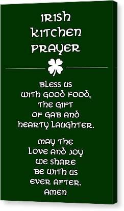Irish Kitchen Prayer Canvas Print by Jaime Friedman