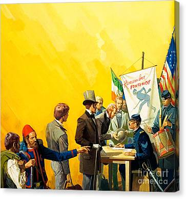 Irish Recruitment For The American Civil War Canvas Print