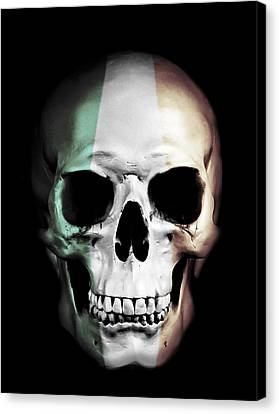 Canvas Print featuring the digital art Irish Skull by Nicklas Gustafsson