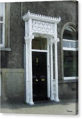 Irish Solicitors Door Canvas Print by Teresa Mucha