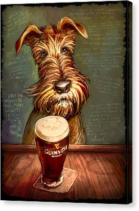 Bars Canvas Print - Irish Toast by Sean ODaniels