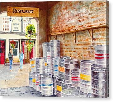 Irish Suds Canvas Print by Karen Fleschler