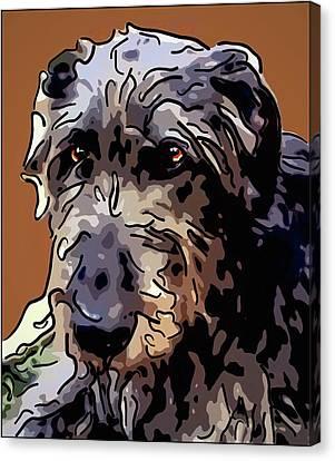 Irish Wolfhound Canvas Print by Alexey Bazhan