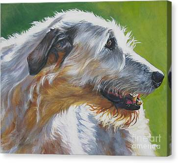 Irish Wolfhound Beauty Canvas Print by Lee Ann Shepard