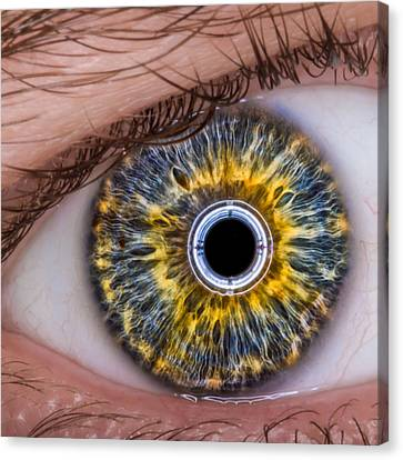 iRobot Eye v2.o Canvas Print by TC Morgan