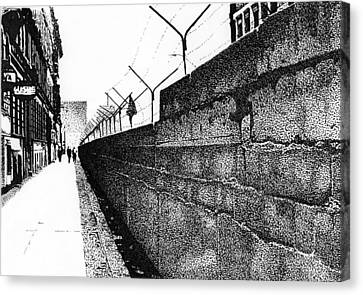 Berlin Canvas Print - Iron Curtain by Lyle Brown