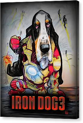 Avengers Canvas Print - Iron Dog 3 by John LaFree