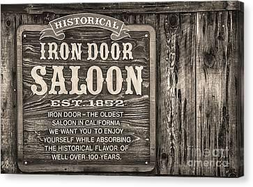 Iron Door Saloon 1852 Canvas Print by David Millenheft
