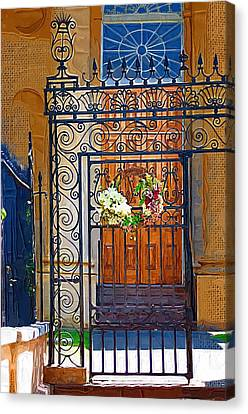 Canvas Print featuring the photograph Iron Gate by Donna Bentley