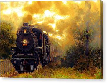 Iron Horse Canvas Print by Aaron Berg