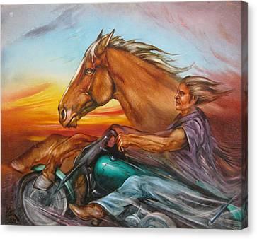Iron Horse Canvas Print by Martin Katon