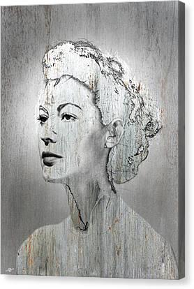 1960 Canvas Print - Silver Screen Eva Gardner by Tony Rubino
