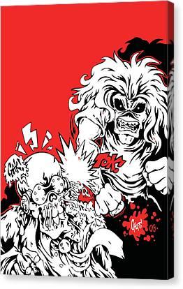 Iron Maiden Vs Megadeth Canvas Print