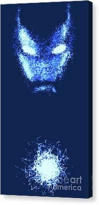Iron Man - Blue Canvas Print by Prar Kulasekara