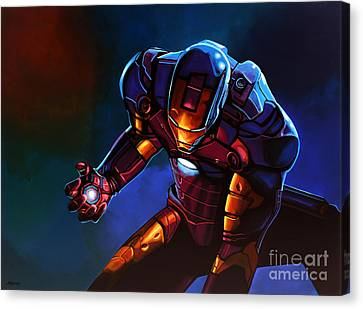 Comic. Marvel Canvas Print - Iron Man by Paul Meijering