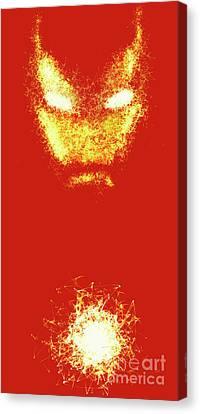 Iron Man  - Red  Canvas Print by Prar Kulasekara