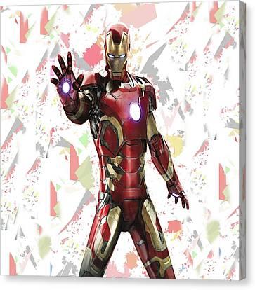Iron Man Splash Super Hero Series Canvas Print by Movie Poster Prints