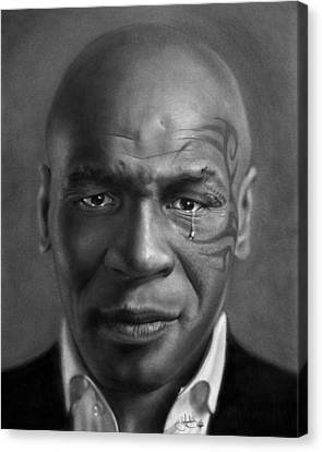 Iron Mike Tyson Drawing Canvas Print by John Harding