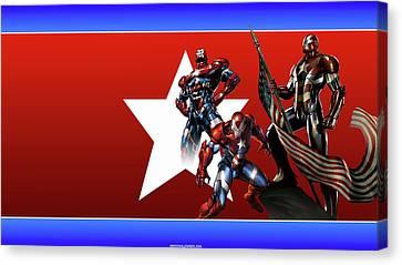 Man Canvas Print - Iron Patriot by Shania Torn