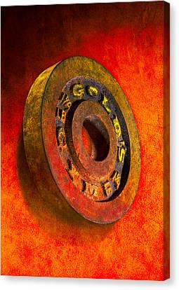 Iron Plate Canvas Print
