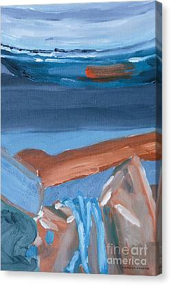 Iron Still Life Abstract Oil Painting Canvas Print by Edward Fielding
