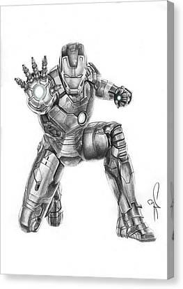 Ironman Canvas Print by Artistyf