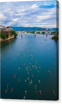 Ironman Competitors Canvas Print by Denise A Johnson
