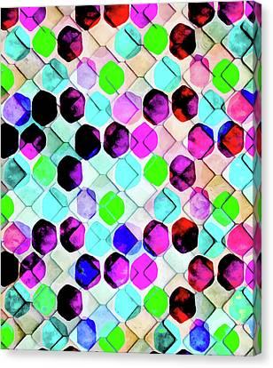Irregular Hexagon Canvas Print by Uma Gokhale
