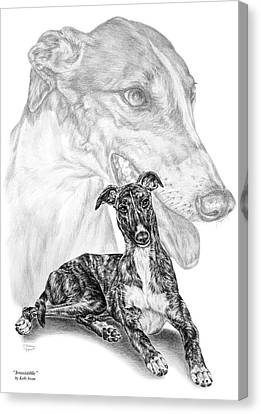 Irresistible - Greyhound Dog Print Canvas Print by Kelli Swan