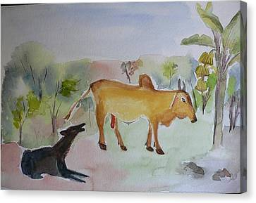 Canvas Print featuring the painting Irresistible  by Geeta Biswas