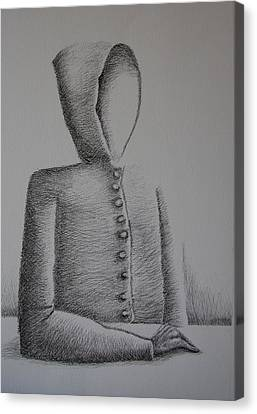 Is Ego Just An Empty Shell Canvas Print by Tanni Koens