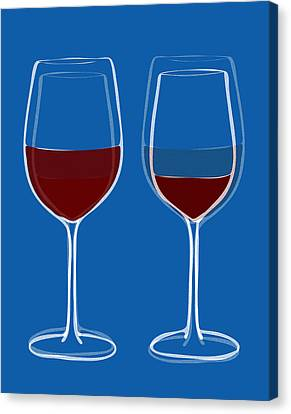 Is The Glass Half Empty Or Half Full Canvas Print by Frank Tschakert