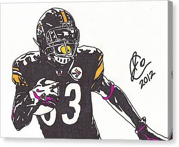 Steelers Canvas Print - Isaac Redman 1 by Jeremiah Colley