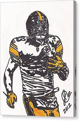 Steelers Canvas Print - Isaac Redman by Jeremiah Colley
