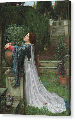 Forlorn Canvas Print - Isabella And The Pot Of Basil by John William Waterhouse