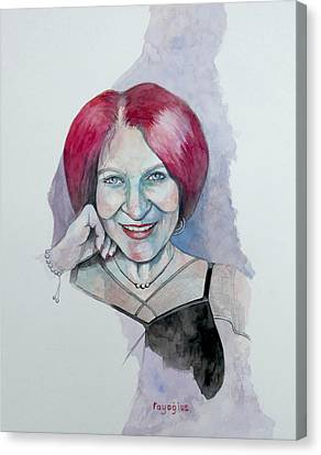 Canvas Print featuring the painting Isabella by Ray Agius