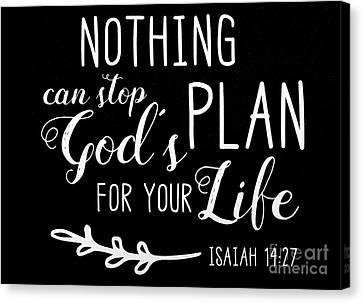 Isaiah 14 27 Scripture Verses Bible Art Canvas Print