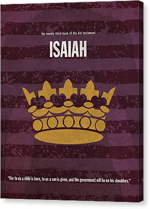 Isaiah Books Of The Bible Series Old Testament Minimal Poster Art Number 23 Canvas Print