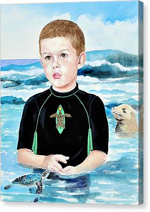 Isaiah Son Of Neptune Canvas Print