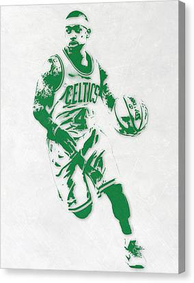 Benches Canvas Print - Isaiah Thomas Boston Celtics Pixel Art 2 by Joe Hamilton