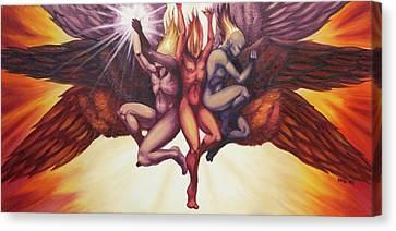 Isaiah's Seraphim Canvas Print by Ida Kendall
